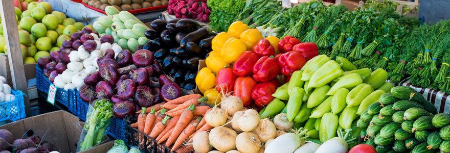 vente de fruits et légumes